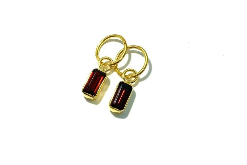 Gold Garnet Danglys
