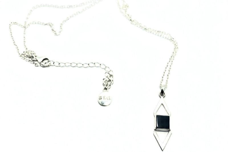 Goni Black Onyx Triangles Necklace
