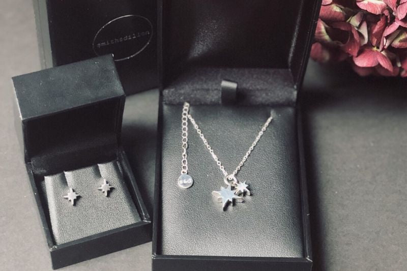 Morning Star Studs & Necklace Gift Duo