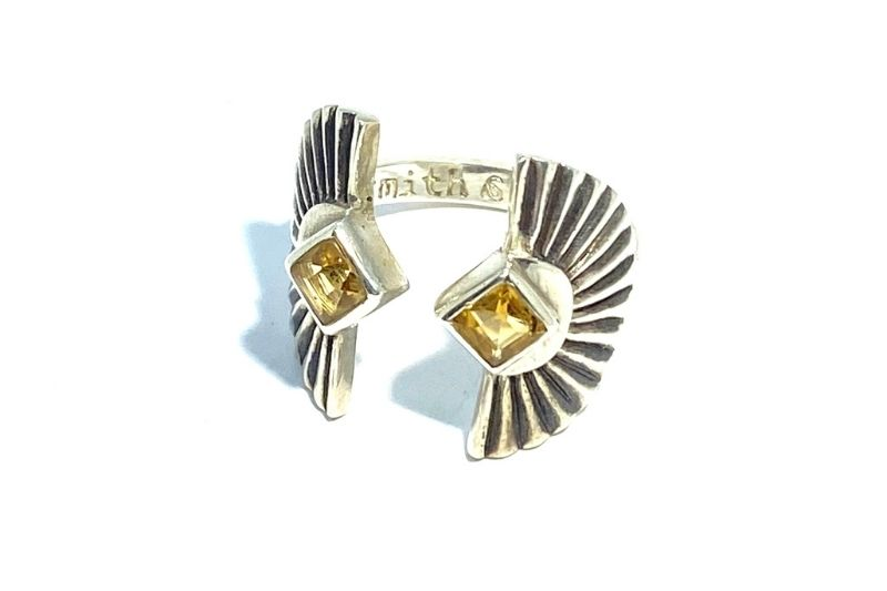 Citrine Sunburst Ring