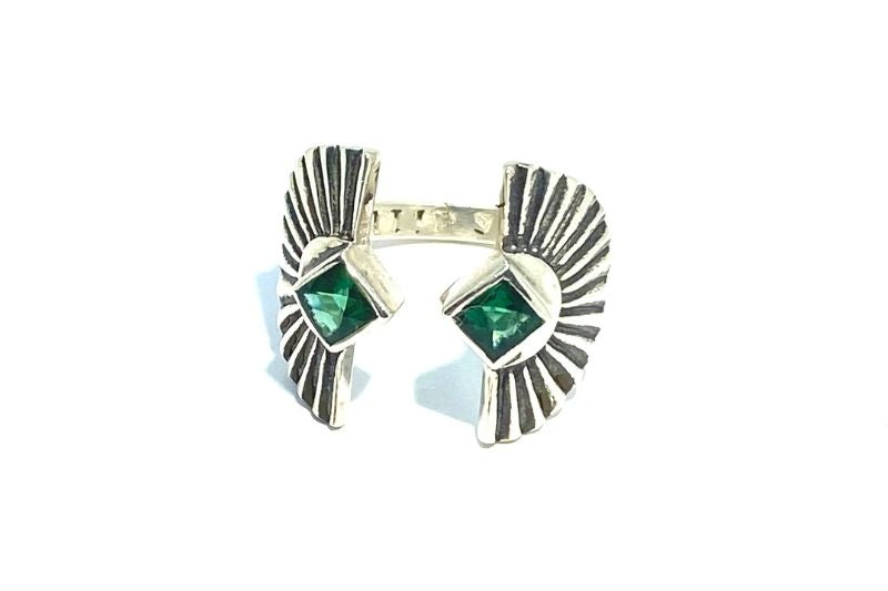 Green Quartz Sunburst Ring