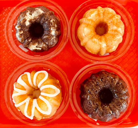 F. Mini Bundt Rum Cakes, set of 4