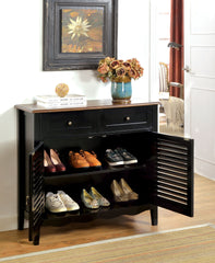 CM-AC131BK Oleida Black Finish Country Style Storage Chest