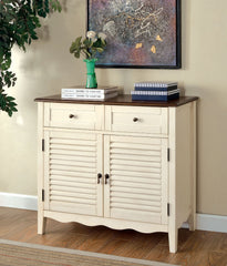 CM-AC131WH Oleida Vintage White Finish Country Style Storage Chest
