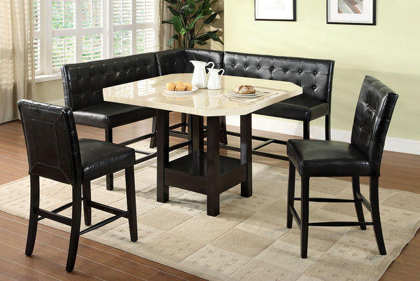 CM3427PT Bahamas Contemporary Style Counter Height Dining Table + ...