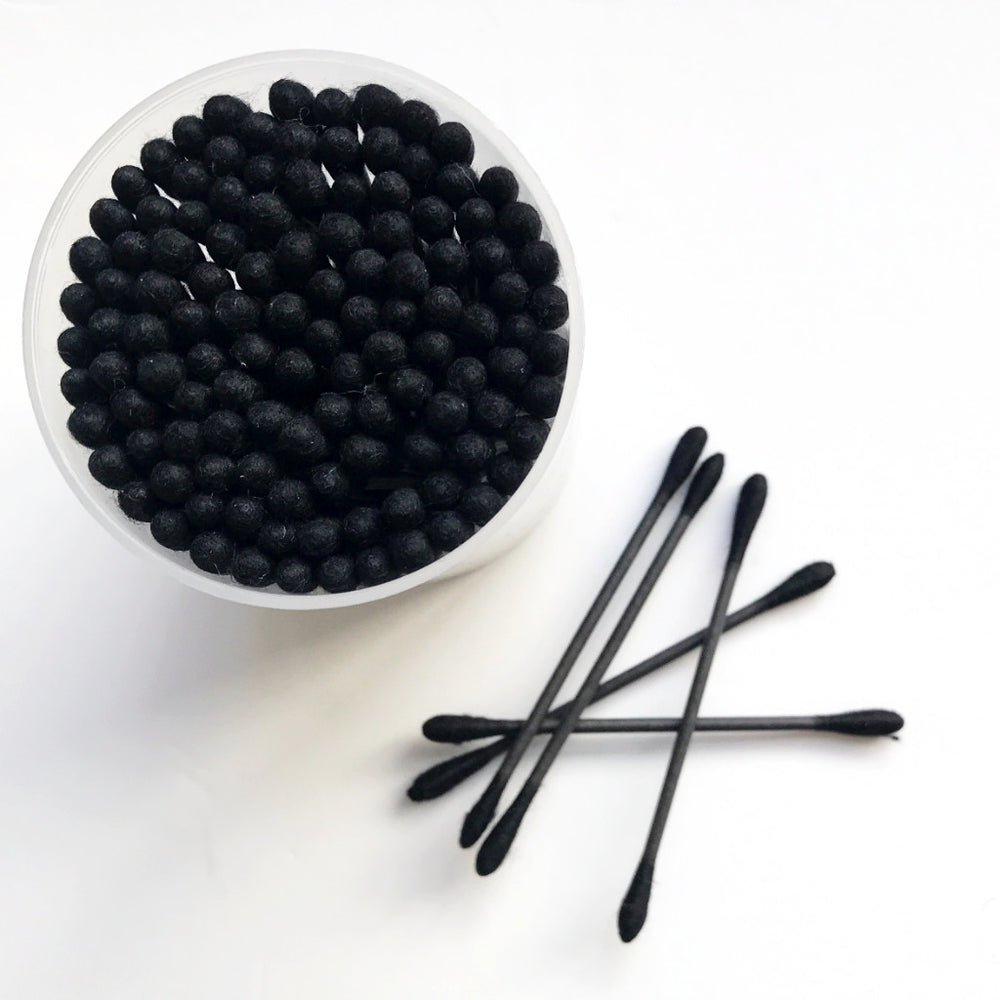 Black Cotton Tips (120 pack)