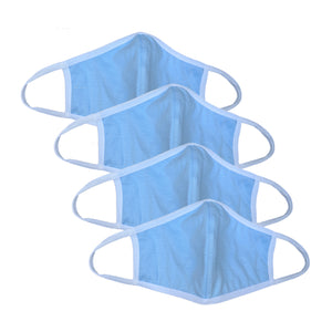 COMFORT CLOTH FACE MASK - WASHABLE (4 PACK) BLUE