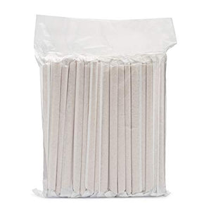 A pack of 80 PandaBoard™ bamboo fiber and plant starch boba straws sealed in plastic.