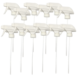 12 White Replacement Standard Trigger Sprayers, Trigger & Nozzle Spray Head for 32 Oz Bottles