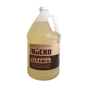 A gallon jug of The Bucko Soap Scum and Grime Cleaner.