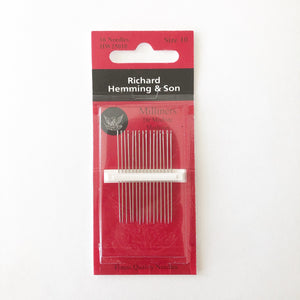Richard Hemming Milliners Straw Needles,      Sz. 10