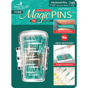 Magic Pins, Fine, Patchwork Pins, 100ct