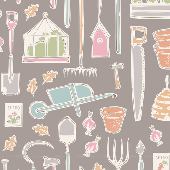 Tiny Farm, Farm Tools, Grey