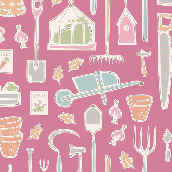 Tiny Farm, Farm Tools, Pink