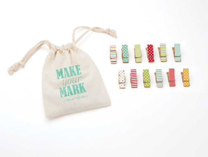 Make Your Mark, Mini Clothespins, Brights