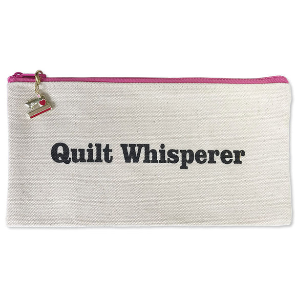 Quilter's Zippered Canvas Bag, Quilt Whisperer