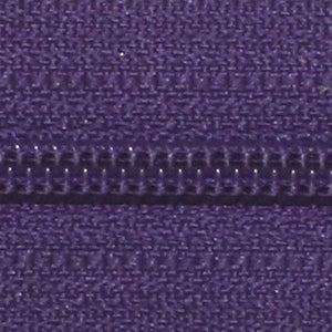 "Ziplon Coil Zipper 18"", Purple"