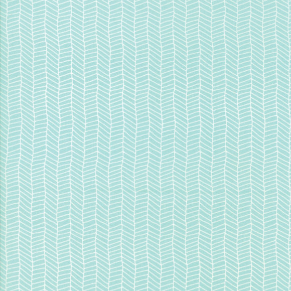 Sugar Pie, Herringbone, Aqua