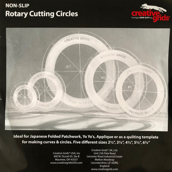Creative Grids, Rotary Cutting Circles Set