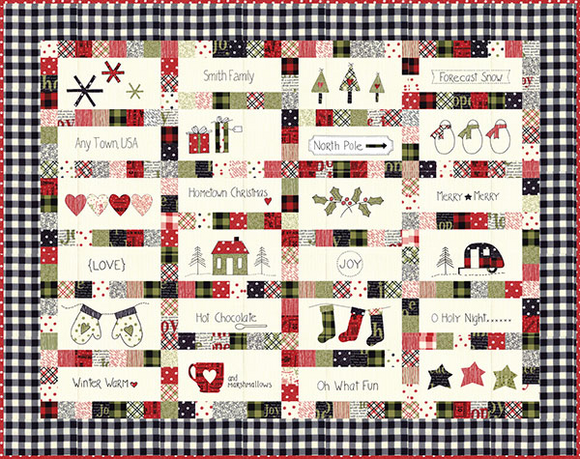 Hometown Christmas Quilt Kit