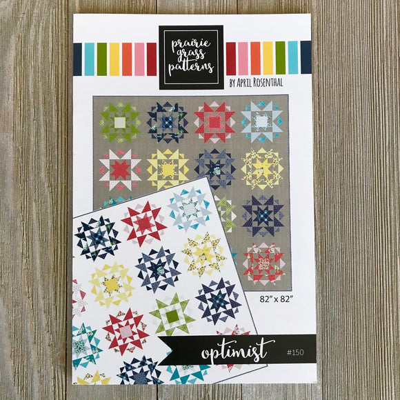 Optimist Quilt Kit, White Background