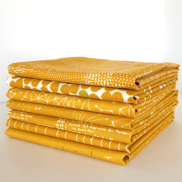 Fragile,1/2 Yard Bundle, Mustard
