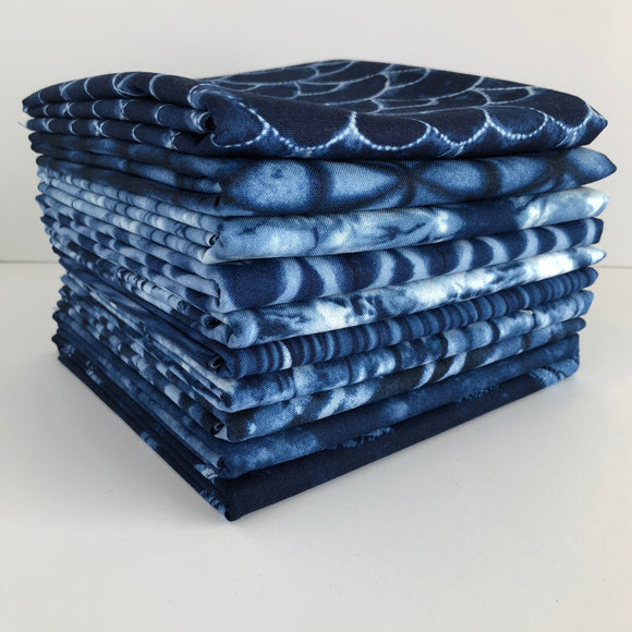 Shibori II, Dark, 1/2 Yard Bundle