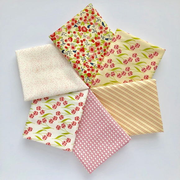Tuppence, Fat Quarter Bundle, Yellow