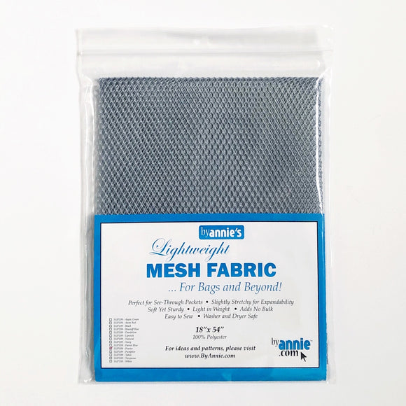 By Annie, Lightweight Mesh Fabric, Pewter