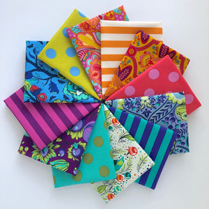 All Stars/Stripes and Poms Fat Quarter Bundle