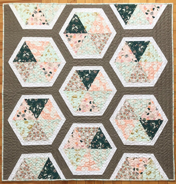 Triangle Hexie Quilt Kit