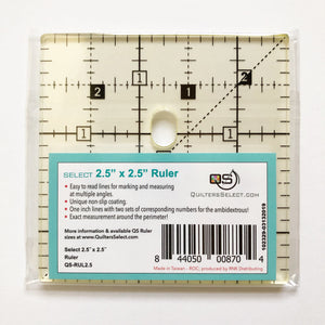 NEW• Quilter's Select 2.5 X 2.5 Inch Ruler