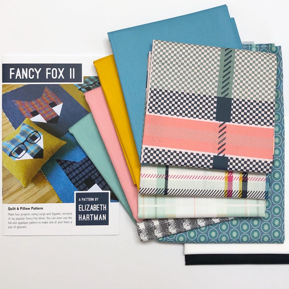 Fancy Fox II Quilt Kit, Pastel