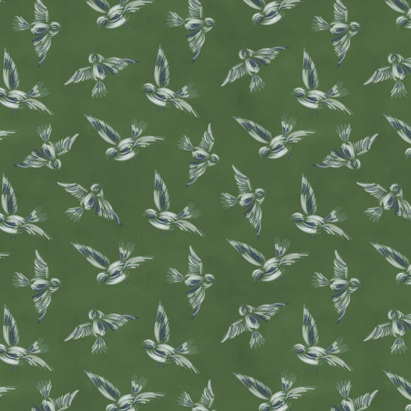 Bunnies, Birds and Blooms, Scattered Flock, Boxwood