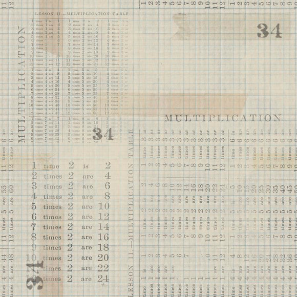 Memoranda III, Multiplication Table, Aqua