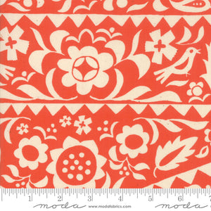 Alma, Market Floral, Warm Red
