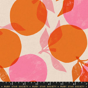 Cotton Linen Canvas 2019, Peaches, Orange