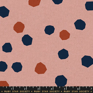 Cotton Linen Canvas 2019, Chunky Dots, Pink