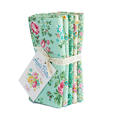 Apple Butter, Teal/Green, Fat Quarter Bundle