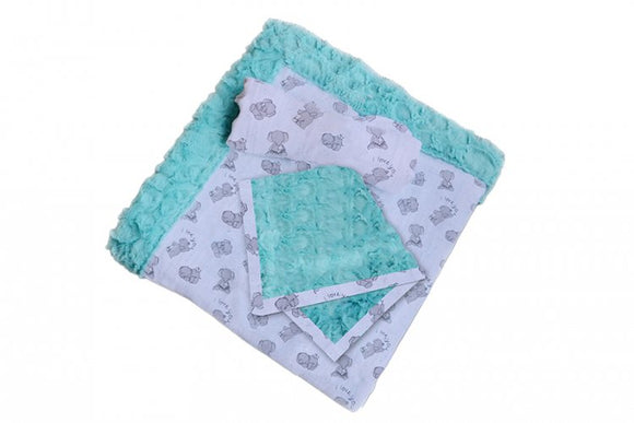 Patty Cakes Swaddle Gift Set Kit, Butter Mint