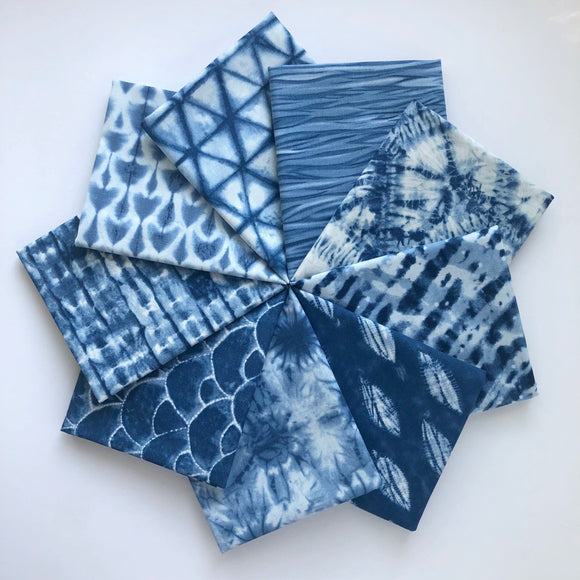 Shibori II, Fat Quarter Bundle, Medium