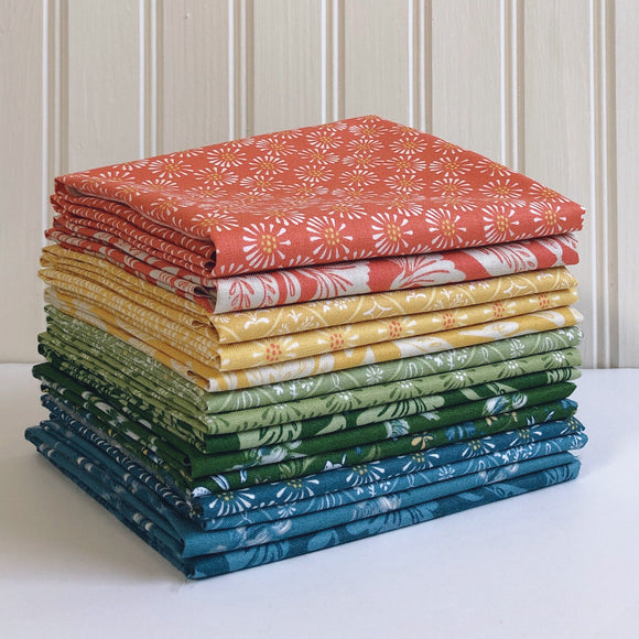 Bunnies, Birds and Blooms, 14 Piece, Fat Quarter Bundle