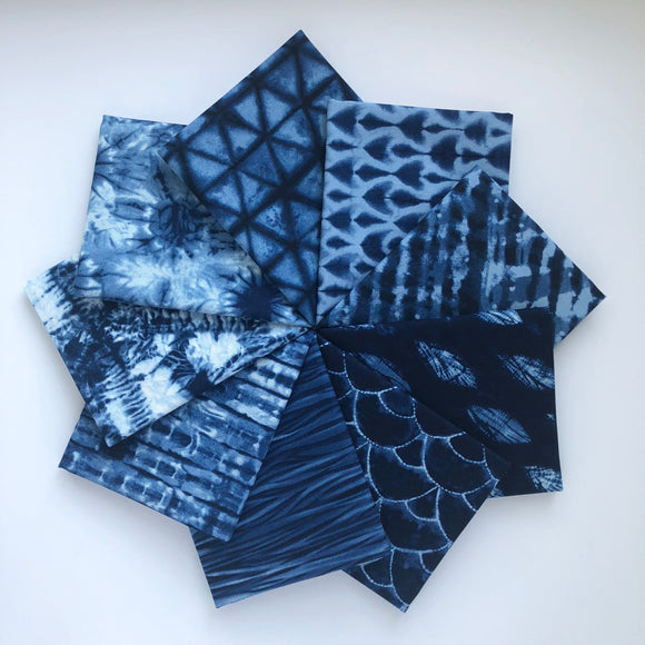 Shibori II, Fat Quarter Bundle, Dark