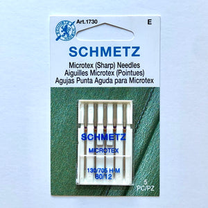Schmetz Microtex Machine Needle, 12/80