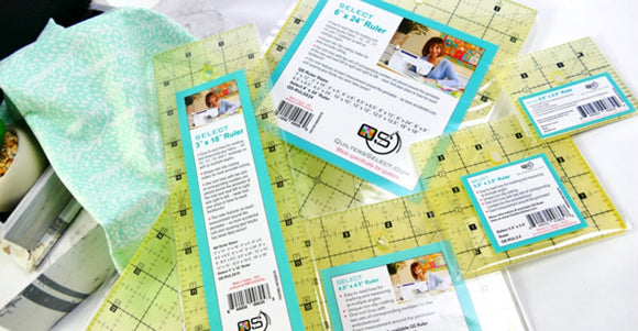 Quilter's Select 5 Quilting Ruler Bundle w/ Bonus Quilt Patterns