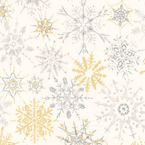 Winter Shimmer, Snowflakes, White