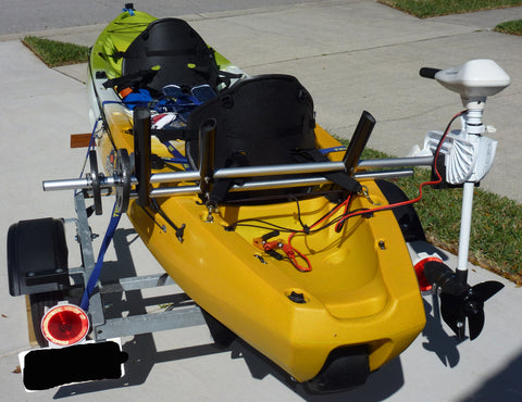 Island Hopper Motor Mount/Kayak Motor Combo for Most Kayaks