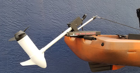 Island Hopper Transom-Mount Motor for Native Watercraft Kayaks with Existing Rudders