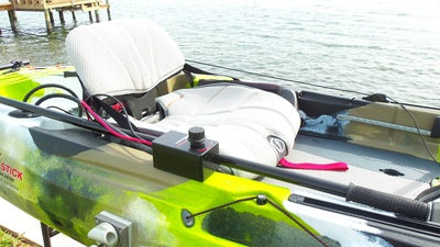 Island Hopper Transom-Mount Motor for FeelFree Lure 13.5 and Moken 14.5 Kayaks without Existing Rudders