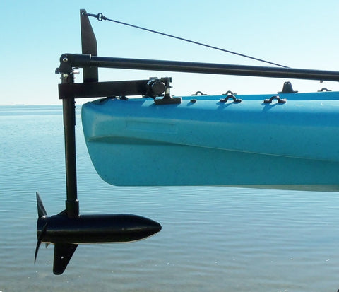 Island Hopper Transom-Mount Motor for Ascend Kayaks without Rudder Systems - [price] | Trolling Motors Online
